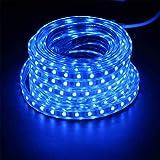 HYD-Parts 150FTLed Strip Lights,SMD 5050 LED String Lights 110V Waterproof for Bedroom, Kitchen, Bar,Outdoor,DIY Decoration (Blue, 150FT)