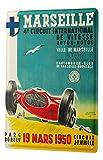 LEotiE SINCE 2004 Plaque en Métal Métallique Poster Mural tin Sign Nostalgie du Voyage Ville Marseille