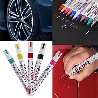JIAIIO Colorful Waterproof Car Wheel Tire Oily Mark Pen Auto Rubber Tyre Tread CD Metal Permanent Paint Marker Graffiti Marcador New