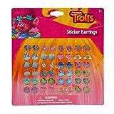 Trolls DreamWorks Poppy Sticker Earrings 24 Pair Girls Dress Up Accessory