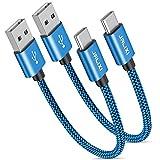 Câble USB C Court [0.3M/30CM Lot de 2], JALIXI Cable USB Type C 3A Charge Rapide, Résistant...