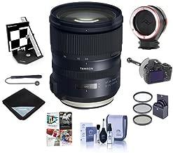 Tamron SP 24-70mm f/2.8 Di VC USD G2 Lens for Canon EOS DSLRs - Bundle with 82mm Filter Kit, Datacolor AF Calibration Aid, FocusShifter DSLR Follow Focus, Peak Lens Changing Kit Adapter, and More
