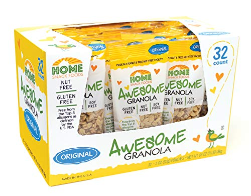 Awesome Granola - Gluten Free, Allergen Free, Nut Free, Soy Free Granola, 32 count 2 oz pouches - Original
