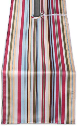 DII CAMZ38595 SUMMER STRIPE OUTDOOR TABLERUNNER ZIPPERED 14x72 w product image