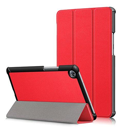 Kepuch Custer Hülle für Huawei MediaPad M5 8.4 SHT-AL09 SHT-W09,Smart PU-Leder Hüllen Schutzhülle Tasche Hülle Cover für Huawei MediaPad M5 8.4 SHT-AL09 SHT-W09 - Rot