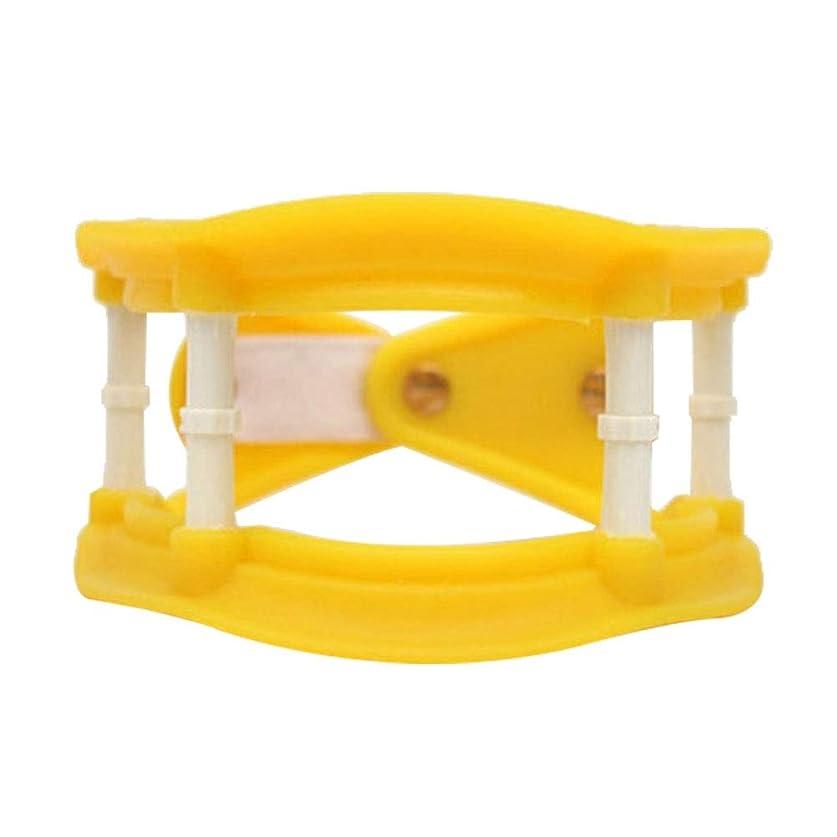 グリース特徴づける怠Healifty 首の牽引通気性の首サポートブレース調整可能な首のつばの首の痛みを軽減します傷害回復(黄色)