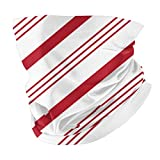 Candy Cane Stripes - Red On WhiteHead Scarf Balaclava Anti Dust Multifunctional Bandanas for Outdoors Sports Black