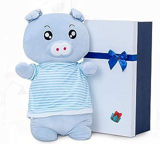 FQ Almohada de masaje, eléctrico Amasado amortiguador trasero hombro masaje de la cintura, Almohada cerdo de juguete de felpa regalo de la siesta del amortiguador de asiento aliviar la fatiga decorati