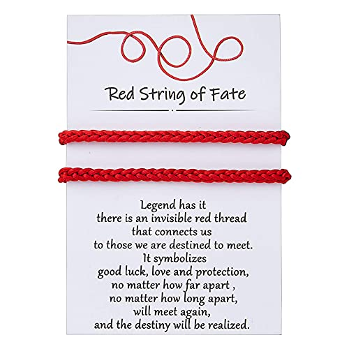 DESIMTION Red String of Fate Good Luck Protection Couples Bracelets Christmas Gifts for Boyfriend and Girlfriend Him and Her Long Distance Relationships Gifts