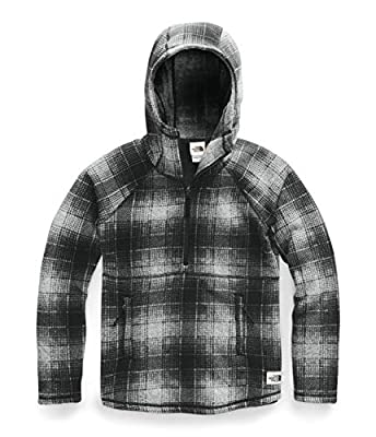 The North Face Women's Printed Crescent Hooded Pullover, High Rise Grey Ombre Plaid Small Print, S