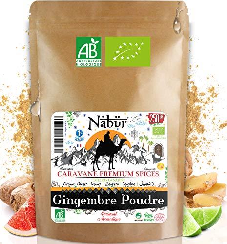 Nabür - نامیاتی ادرک پاؤڈر 250 GR ⭐ نامیاتی گراؤنڈ ادرک | تازہ ، رچ ، فروٹ ⭐ باورچی خانے سے متعلق ، پیسٹری ، اسموتی ، رس ، انفیوژن…