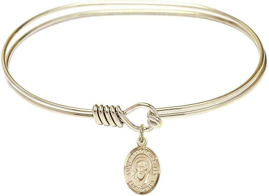 7 inch Oval Eye Hook Bangle Bracelet A surprise price is realized with New York Mall Francis Sales St. de a
