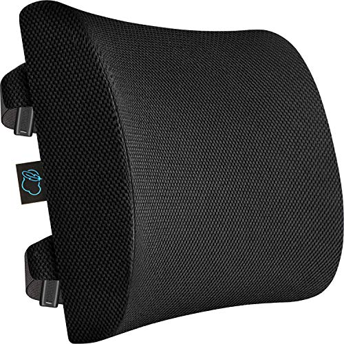 Cloud Comfort Lumbar Support Cushion - Memory Foam Back Cushion Relieves Pain & Improves Posture - Lumbar Cushion for Office Chair Back Support & Car Seat Back Support Cushion