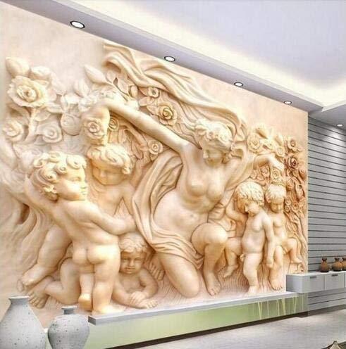 BZDHWWH Papel Tapiz fotográfico 3D estereoscópico casa ángel Cupido 3D Papel Tapiz Mural TV...