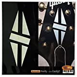 Inlay Sticker Decal for Guitar Headstock - Diamond Hatch (2pcs Set) - White Pearl