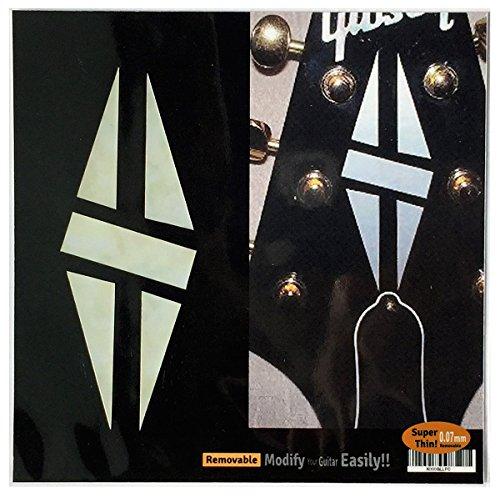 Inlay-Aufkleber, für Gitarren-Kopfplatte im MOP-Design, 2 Stück im Set LP Diamond Hatch WP