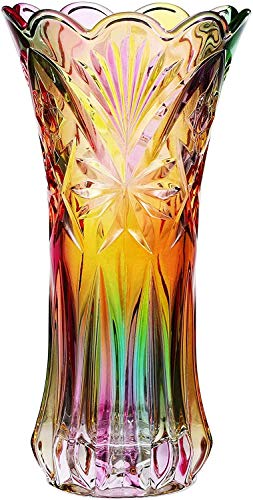 WINOMO Blumenvase, Kristallglas, Regenbogen-Dekoration, Pflanzgefäß, Topf, Weihnachten, Herbst, Weihnachten, Abendessen, Tischdekoration