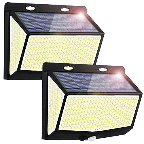 Derlights ソーラーライト 屋外 人感センサーライト 468LED 高輝度 昼白色 三つ照明モード IP65防水 ソーラー充電 省エネ 環境に優しい 駐車場 玄関 ガーデン 停電時適用