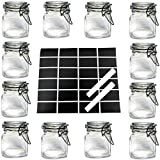 12 X Mini Glass Clip TOP Spice Storage Preserving Jars Container CANISTERS (Clear)