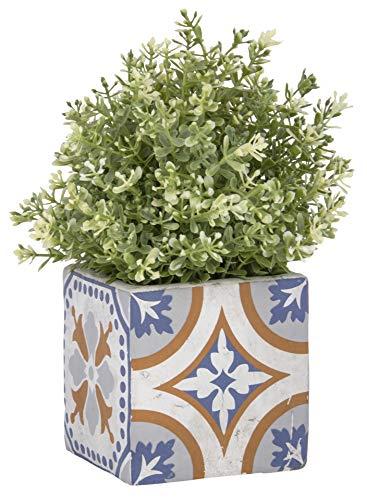Esschert Design AC176 Beton Portugiesische Fliesen Blumentopf
