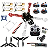 QWinOut F330 Airframe MultiCopter Frame Flame Wheel kit RTF Kit with 8CH Transmitter TX&RX Welded ESC Motor DIY RC Drone Kit