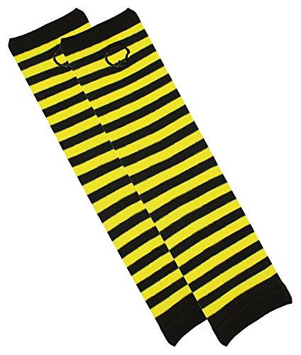 Das Kostümland Armstulpen Handschuhe zum Bienenkostüm - Zubehör Verkleidung Fasching Party