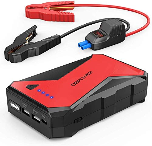 DBPOWER 1000A 12800mAh Portable Emergency Car Jump Starter- up to 7.0L Gasoline, 5.5L Diesel Engine,12V Auto Battery Booster Portable Power Pack