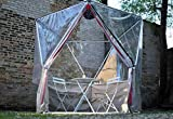 Thunder-Domes 1V Geodesic Dome Igloo, Greenhouse, Isolation Tent for Outdoor Patios and Gardens with Clear Vinyl Cover