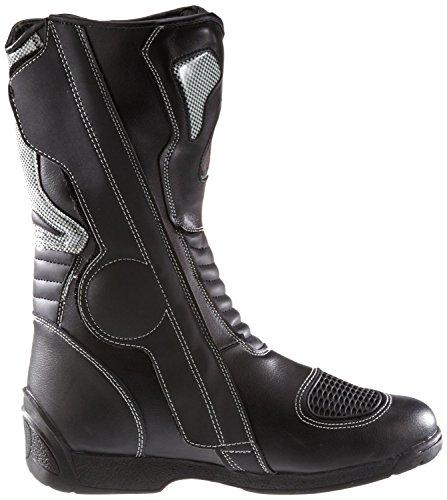 Protectwear SB-03203-44 Motorradstiefel, Allroundstiefel, Sportstiefel aus Leder, Größe 44, Schwarz - 6