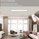 Dimmbar LED Deckenleuchte Panel 100x25 cm mit Fernbedienung, 28W Flache Deckenpanel Lampe mit Starker Leuchtkraft Licht, 2700K - 6500K Warmweiß Naturweiß Kaltweiß Lampe für Büro Werkstatt Wohnzimmer - 7