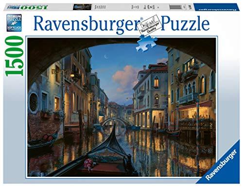Ravensburger Puzzle Sogno veneziano, Puzzle 1500 pezzi, Relax, Puzzles da Adulti, Dimensione: 80x60 cm, Stampa di alta qualità, Venezia, Italia