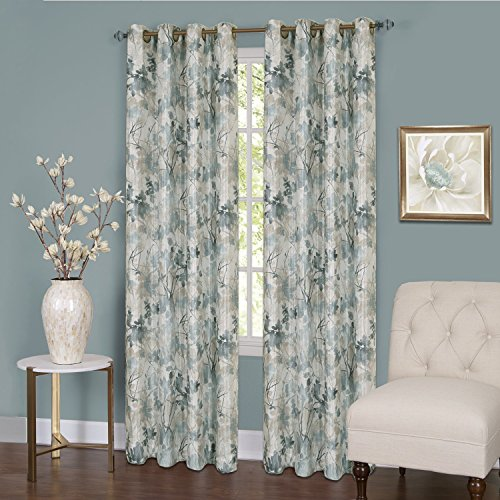 """Achim Home Furnishings, Mist Tranquil Lined Grommet Window Curtain Panel, 50"""" x 84"""""""