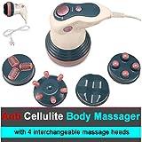 LuckyFine 4 in 1 Massaggiatore Elettrico Massaggiare Corpo Massaggiatore Anticellulite Massaggio Cellulite Con 4 Accessori Intercambiabili Massaggiare Senza Dolore