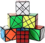 ROXENDA Cubos de Velocidad, [Paquete de 6] Speed Cube Set - Skew Axis Windmill Fisher Ivy 3x3x3 Speed Cube Smooth Magic...