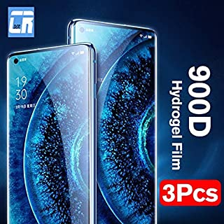 Jellyfish-Phone Screen Protectors - 3Pcs 900D Protective Hydrogel Film for OPPO Reno 3 Find X2 Pro 2Z 2F A5 A9 2020 Screen...