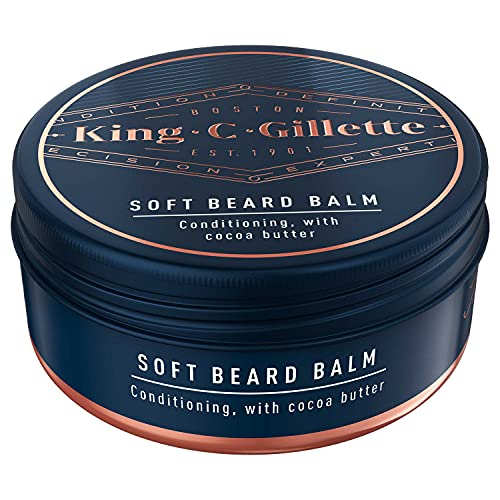 King C. Gillette Men Soft Beard Balm, Deep Conditioning with Cocoa Butter, Argan Oil and Shea Butter, 100ML