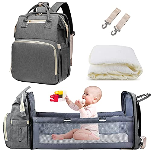 3 in 1 Baby changing bag Backpack, Baby Diaper Bag Nappy Back Pack with...