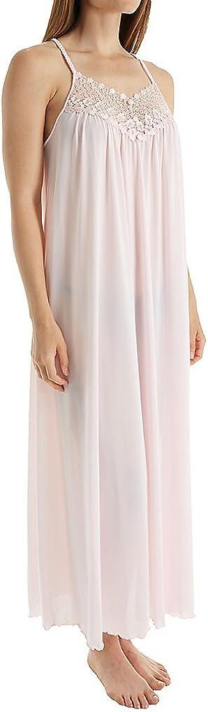 Shadowline Women's Plus-Size Beloved 53-Inch Braided Spaghetti Strap Long Gown