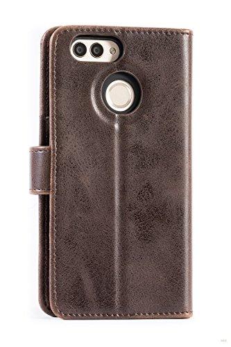 Mulbess Handyhülle für Huawei Nova 2 Hülle, Leder Flip Case Schutzhülle für Huawei Nova 2 Tasche, Vintage Braun - 2