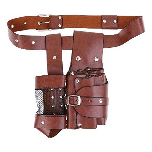 oshhni PU Leather Barber Tool Bag Barber Bag Scissor Bags Barber Holster