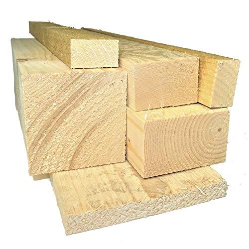 Ein Rahmenholz unbehandelt Fichte saegerau Breite/Höhe/Länge 80mm x 100mm x 2000mm 8,49€/Lfm Latten Kantholz Zaun Garten Holz Brett Balken