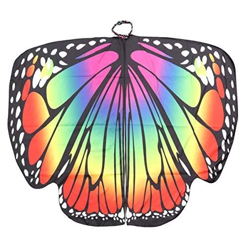 VOSAREA Frauen Halloween Schmetterling Umhang Flügel Schal Fee Damen Cosplay Zubehör für Frauen Mädchen