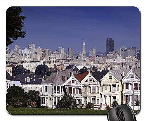 Alfombrilla Ratón San Francisco Skyline Houses Downtown Cityscape Alfombrilla Escritorio De Oficina Antideslizante Alfombrilla Gaming para Trabajo Computadora 25X30Cm