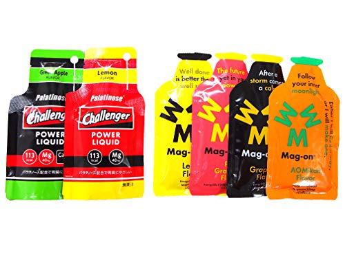【Mag-on】マグオン エナジージェル 柑橘系味セット (Mag-on)レモン/ピンクグレープフルーツ/グレープフルーツ/青みかん (Challenger)レモン/グリーンアップル【補給食説明書付】