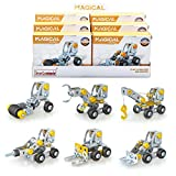 Iron Commander Mini Erector Sets Metal Building Set, Various Vehicles Model Stem Toys for Boys Girls Ages 8 and up (Engineering Series)
