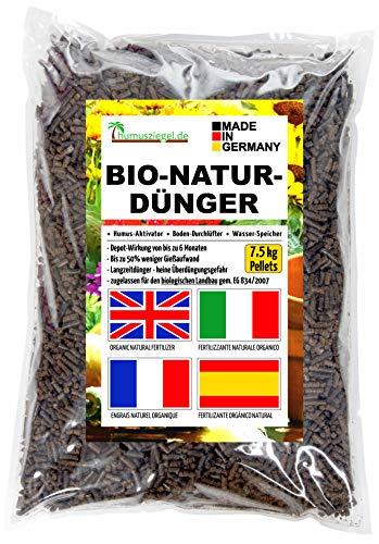 Humusziegel - Gránulos orgánicos de estiércol de caballo - Fertilizante apto en el cultivo de plantas para agricultura biológica - Bolsa de 7.5 kg / 10L