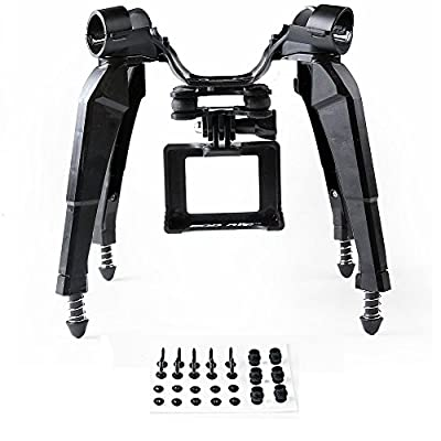 Extended Landing Gear and Camera Holder with Gimbal Kit for Hubsan H501S RC Quadcopter FPV Drone(Support Xiaoyi Gopro 3 4 Camera Gimbal) Black
