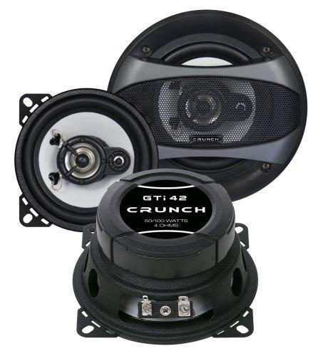 Crunch GTI 42 Haut-parleur arrière 10 cm pour Fiat Grande Punto 3 Type 199 à partir de 2005