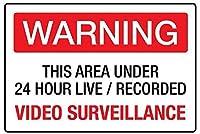 ビデオ監視壁錫サイン金属ポスターレトロプラーク警告サインヴィンテージ鉄の絵画の装飾オフィスの寝室のリビングルームクラブのための面白い吊り工芸品