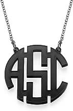 large acrylic monogram necklace